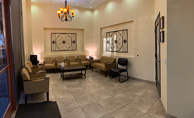 Patient waiting area at our Mesa, AZ office