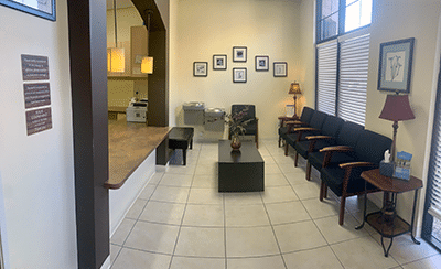 Patient waiting area at our Chandler, AZ office